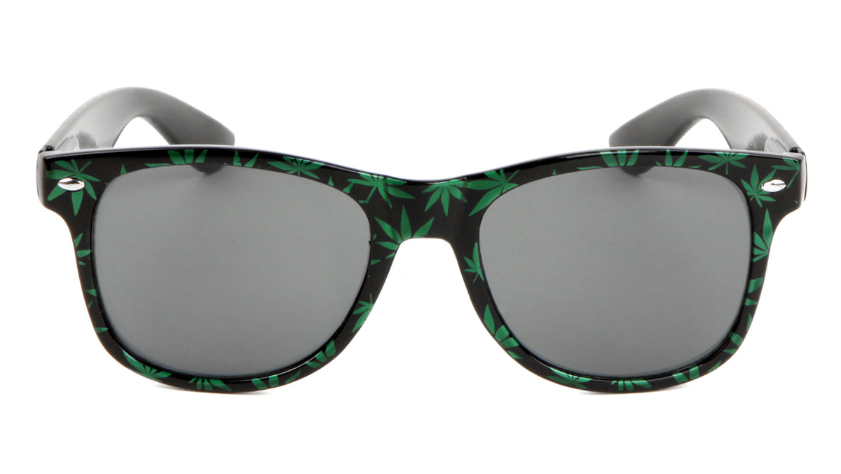 Classic Weed Pattern Wholesale Sunglasses