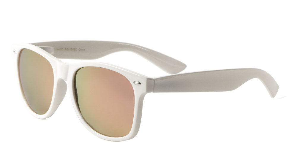 White Polarized Color Mirror Classic Sunglasses