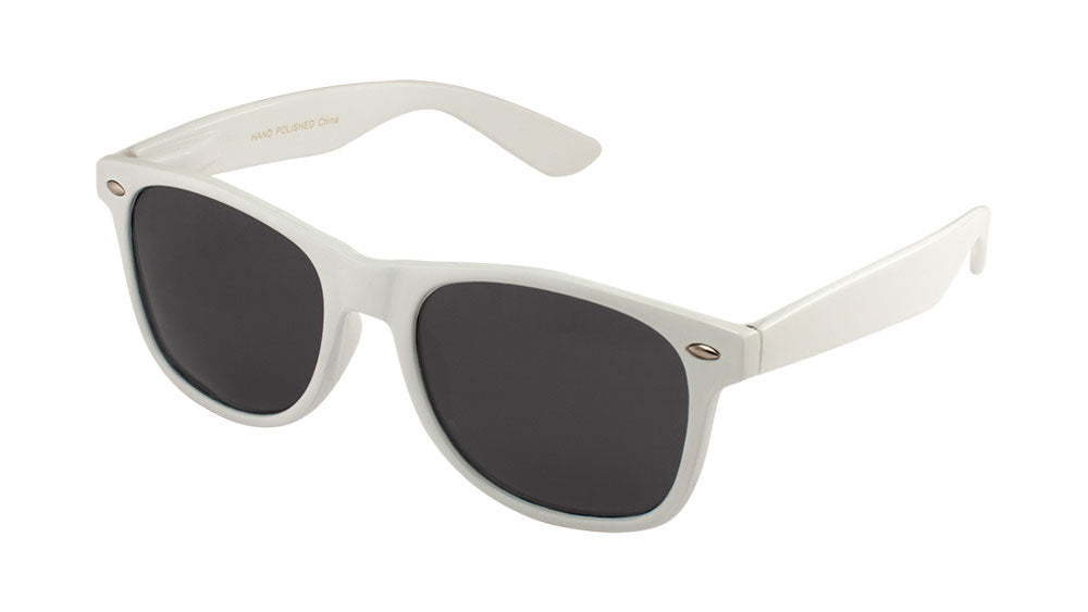 Classic Spring Hinge Polarized White Wholesale Bulk Sunglasses