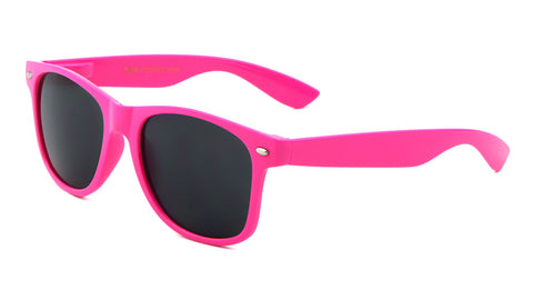 W-1-SNEON - Classic Spring Hinge Solid Neon Colors Wholesale Bulk Sunglasses