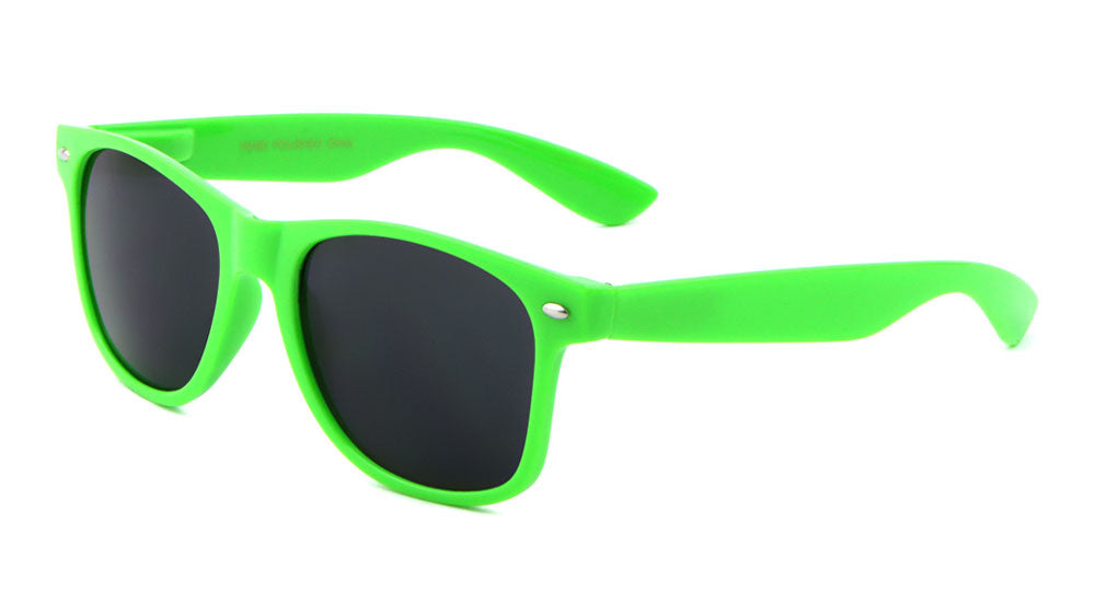 Classic Spring Hinge Solid Neon Colors Wholesale Bulk Sunglasses