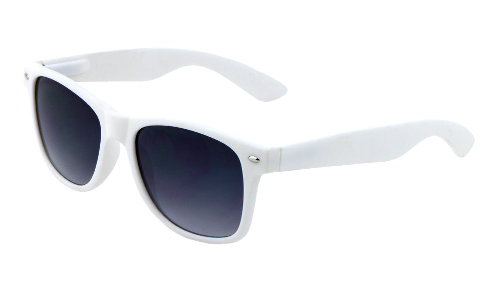 Classic White Soft Coat Spring Hinge Bulk Sunglasses