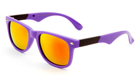 Classic Plastic Color Accent Color Mirror Sunglasses