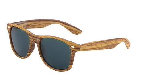 Classic Wood Pattern Spring Hinge Wholesale Bulk Sunglasses