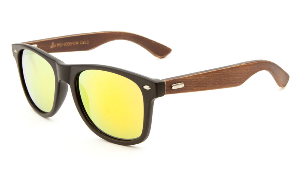 EKO Classic Color Mirror Wood Sunglasses Wholesale