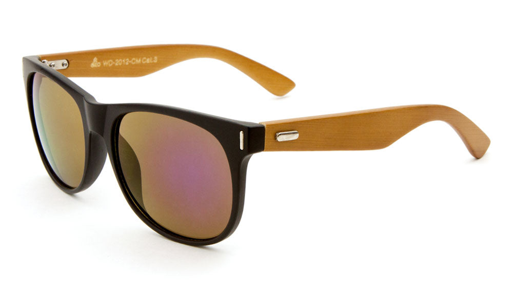 EKO Wood Classic Sunglasses with Color Mirror Wholesale