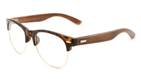 EKO Combination Clear Wood Glasses Wholesale