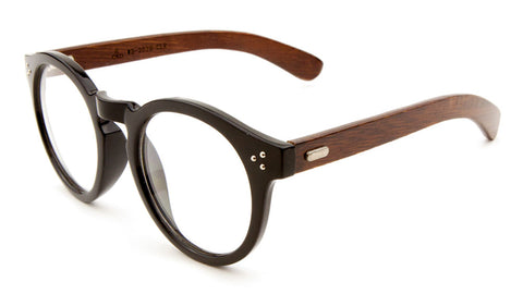 EKO Retro Clear Wood Glasses Wholesale