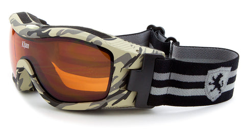 ASG-016 - KHAN Snow Goggles Camouflage Pattern Wholesale