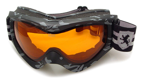 ASG-017 - KHAN Snow Goggles Camouflage Pattern Wholesale