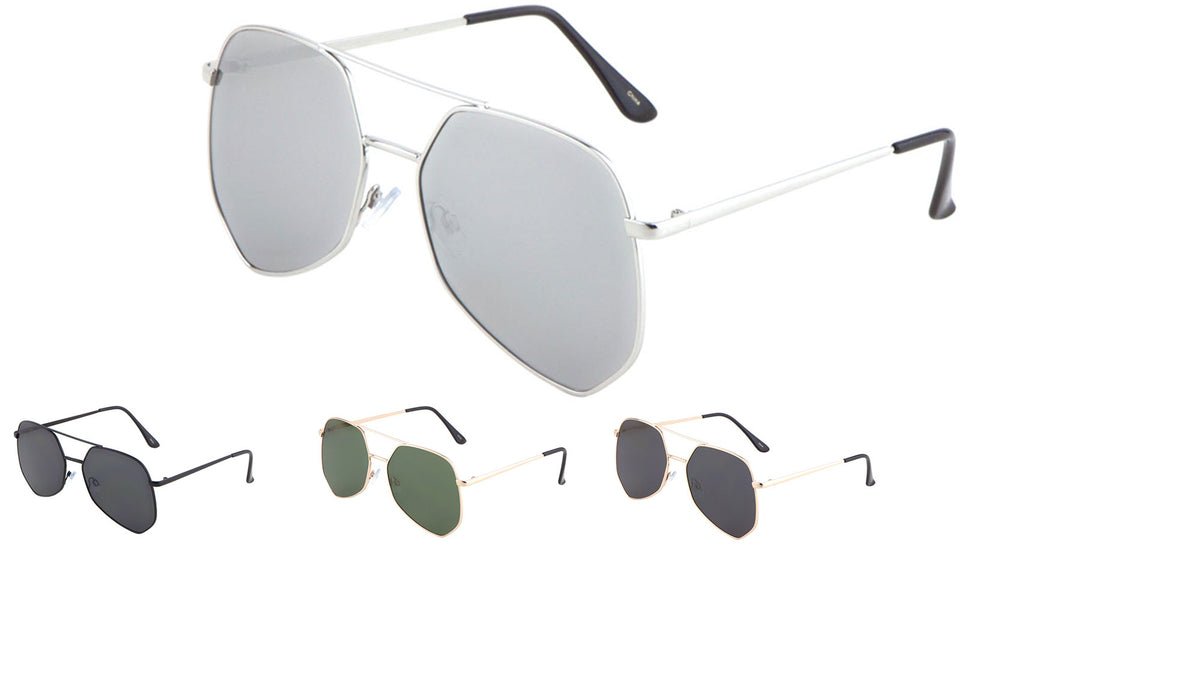 Angled Aviators Wholesale Sunglasses