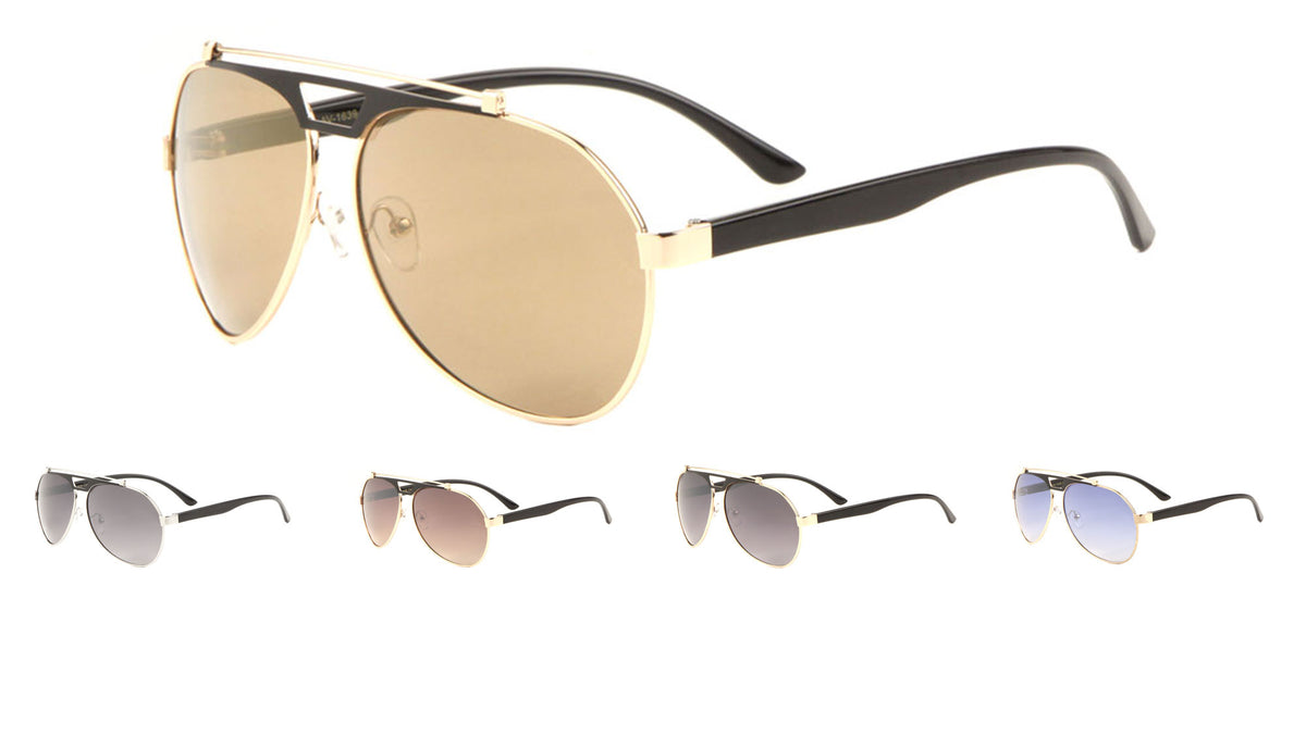 Top Bar Fashion Aviators Sunglasses Wholesale