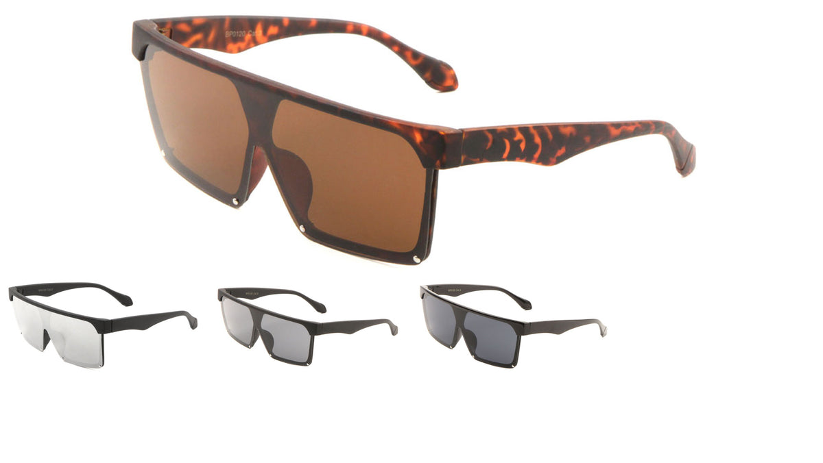 Solid One Piece Lens Classic Fashion Wholesale Sunglasses