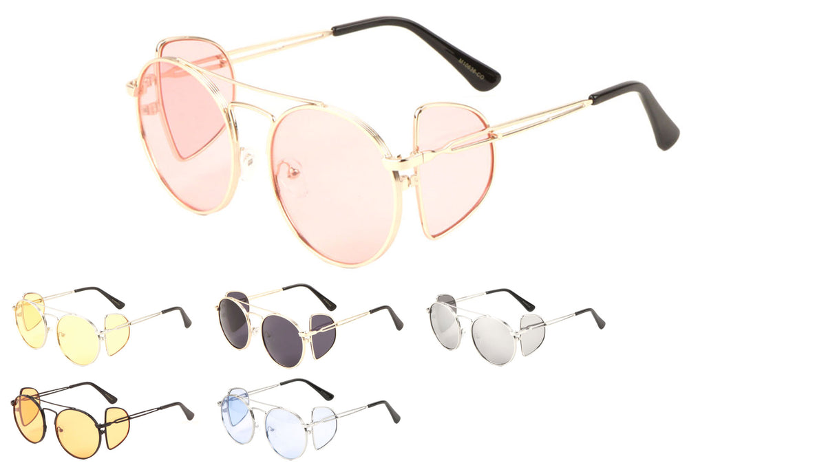 Aviators Side Shield Color Sunglasses Wholesale