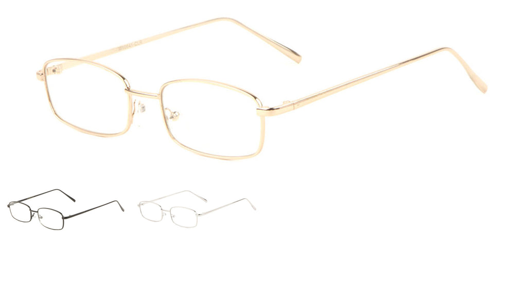 Small Thin Rectangle Clear Lens Bulk Wholesale Glasses