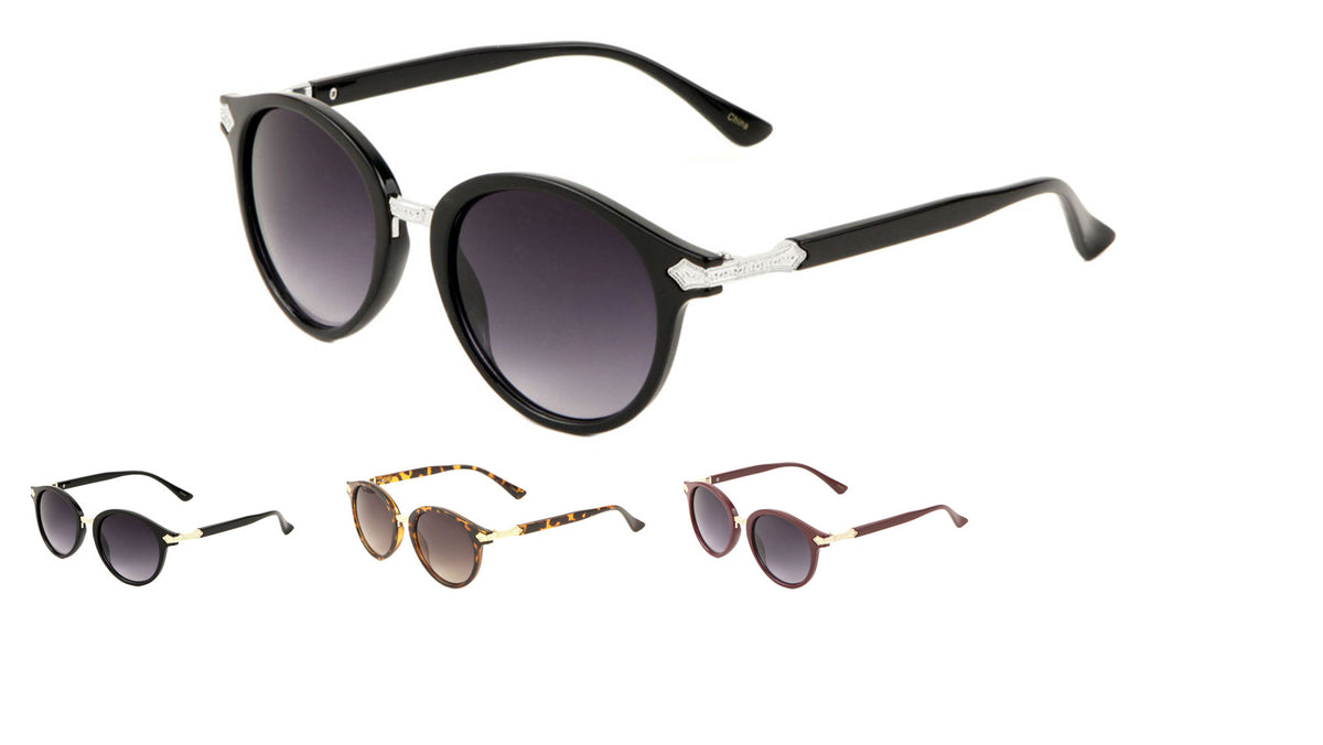 Retro Metal Deco Sunglasses Wholesale