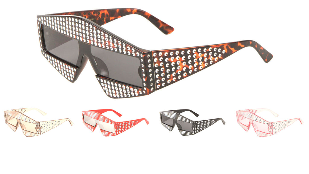 Fake Rhinestone Pointed Fashion Wholesale Sunglasses
