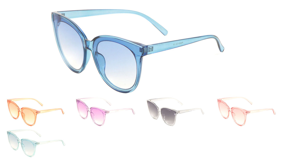 Crystal Color Retro Cat Eye Sunglasses Wholesale