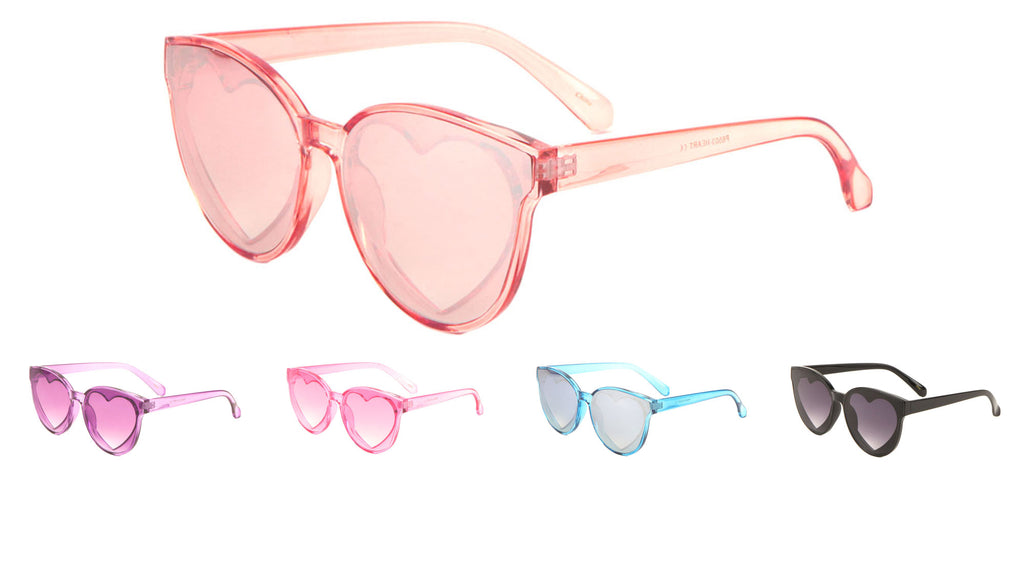 Retro Cat Eye Heart Sunglasses Wholesale