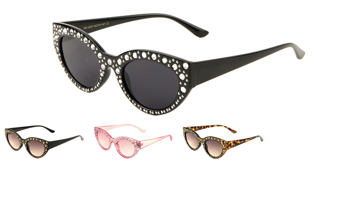 Retro Rhinestone Cat Eye Sunglasses Wholesale