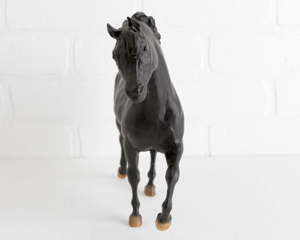 Breyer Black Arabian Stallion from Walter Farley's Black Stallion Series at Lobster Bisque Vintage