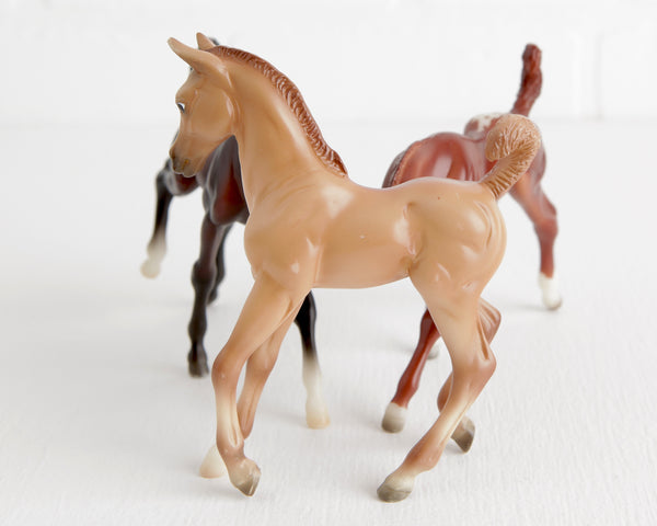 Breyer Trio of Cavorting Foals at Lobster Bisque Vintage