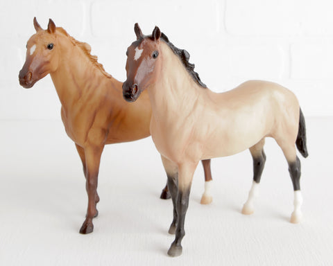 Breyer Pair of Duchess at Lobster Bisque Vintage