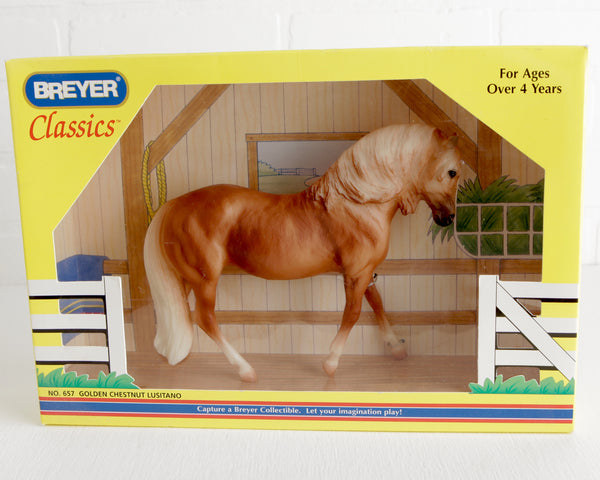 Breyer Golden Chestnut Lusitano #657 in Original Box at Lobster Bisque Vintage