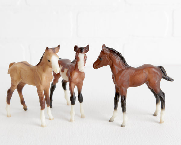 Breyer Trio of Mustang Foals at Lobster Bisque Vintage