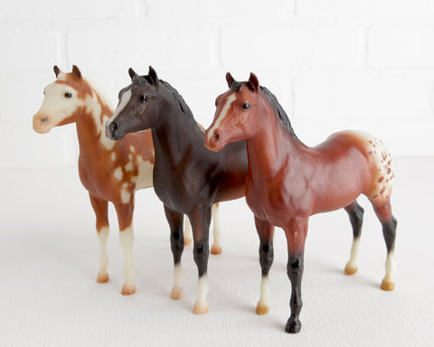 Breyer Trio of Stock Horse Foals at Lobster Bisque Vintage