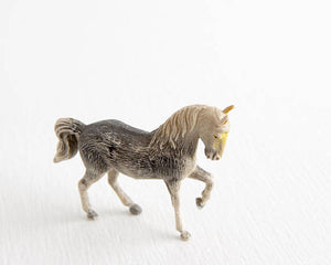 Gray Prancing Horse with Yellow Face at Lobster Bisque Vintage