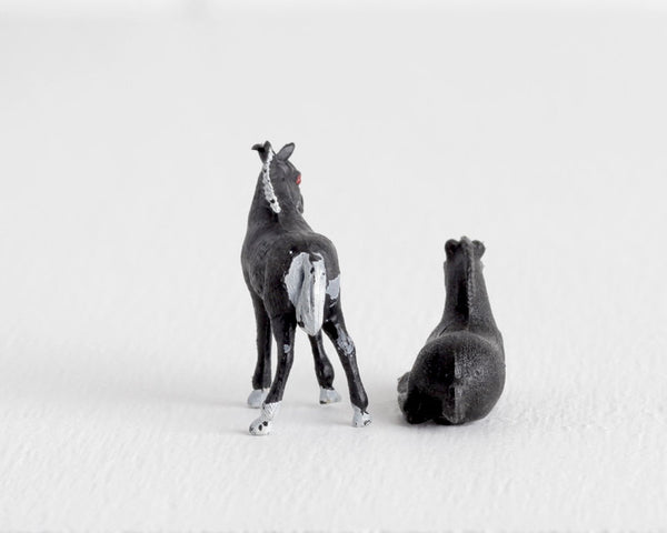 Pair of Miniature Black Foals at Lobster Bisque Vintage