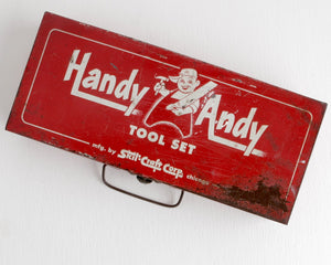 Handy Andy Box with Lid at Lobster Bisque Vintage