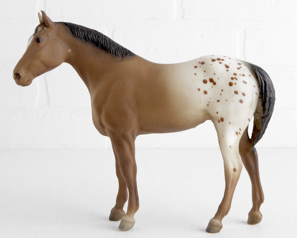 Breyer Appaloosa Quarter Horse Yearling in Brown Blanket Appaloosa with Blaze #103 at Lobster Bisque Vintage