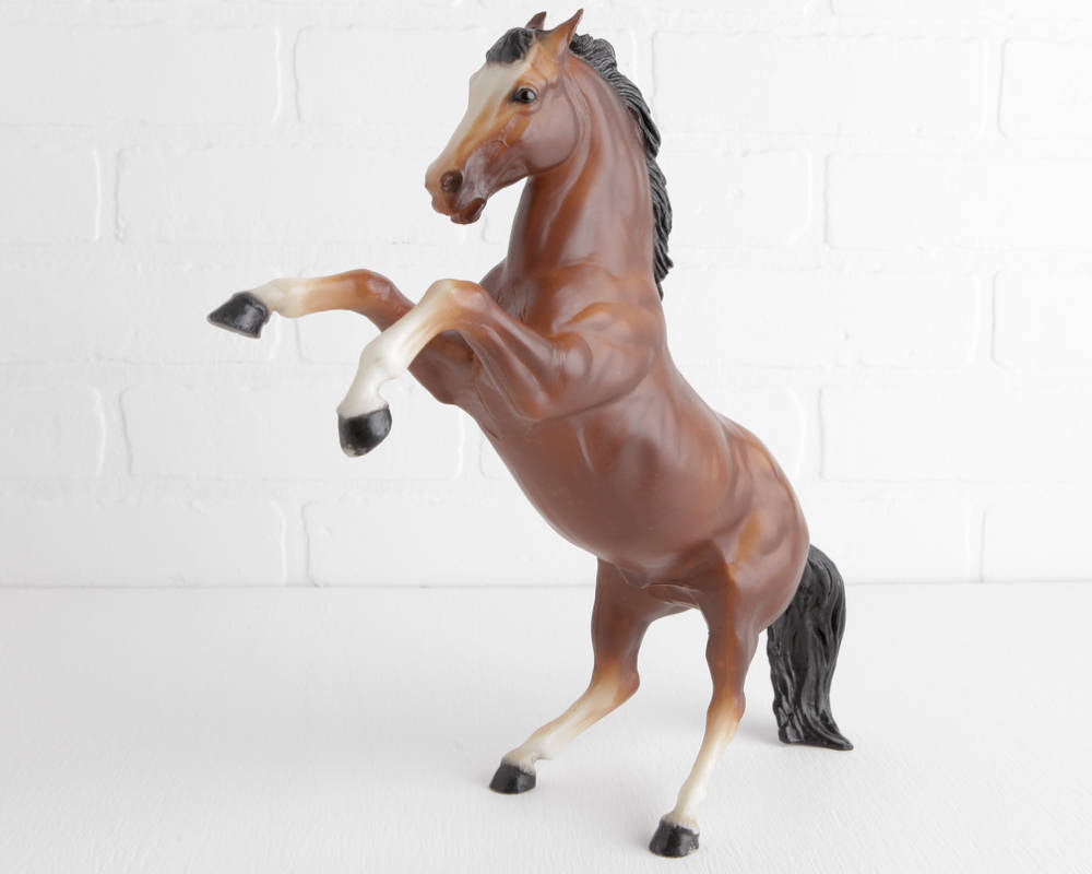 Breyer Fighting Stallion King in Bay with USA Mold Stamp at Lobster Bisque Vintage