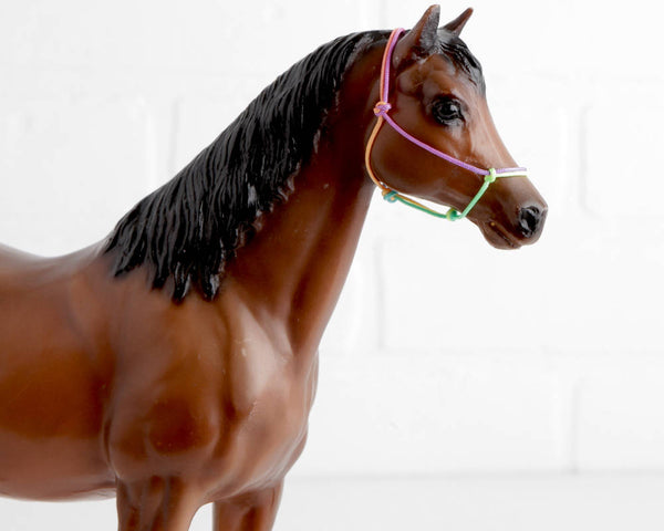 Breyer Bay Family Arabian Mare with Rope Halter at Lobster Bisque Vintage
