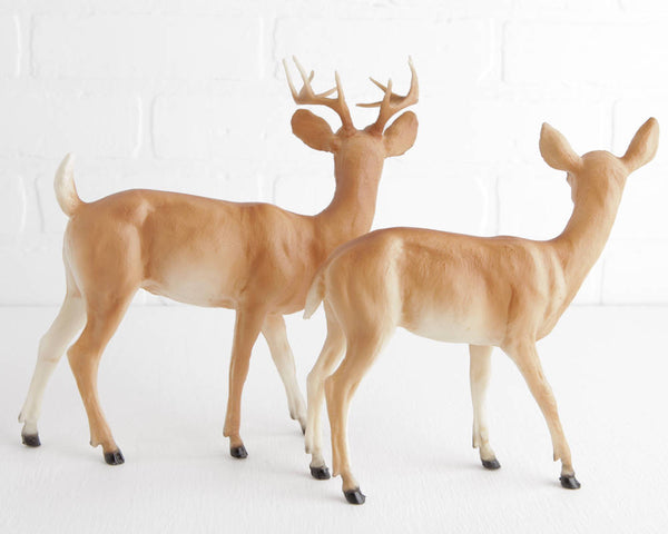 Breyer Buck and Doe Figurines in Soft Tan at Lobster Bisque Vintage