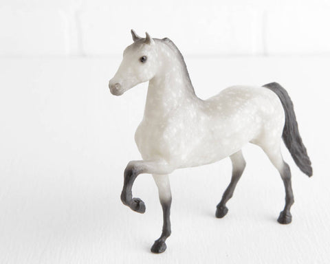 Breyer Dapple Gray Little Bit Paddock Pal Morgan Pepper with Black Legs at Lobster Bisque Vintage