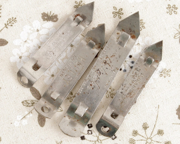 Set of Metal Bottle Openers at Lobster Bisque Vintage