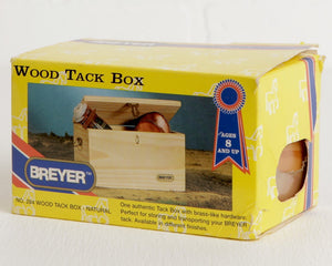 Breyer Wood Tack Box #284, B Ranch Series in Original Package at Lobster Bisque Vintage