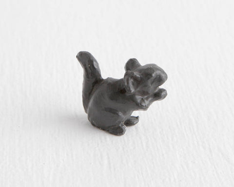 Black Metal Squirrel Figurine at Lobster Bisque Vintage