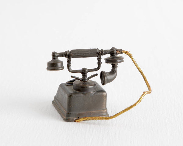 Die Cast Metal Rotary Telephone at Lobster Bisque Vintage