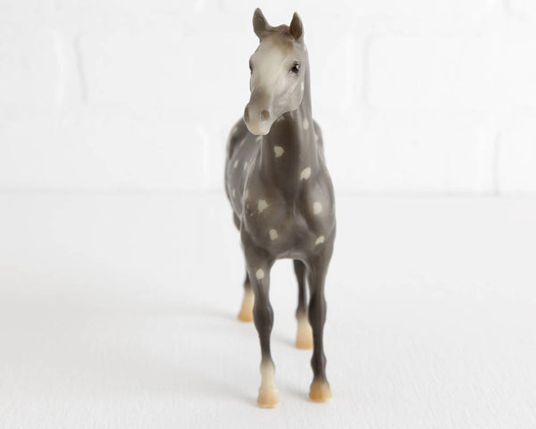 Breyer Resist Dapple Gray Cloud, B Ranch Series with Light Mane and Tail at Lobster Bisque Vintage
