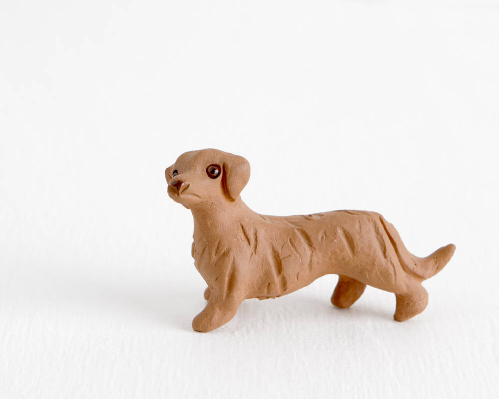 Terracotta Dachshund at Lobster Bisque Vintage