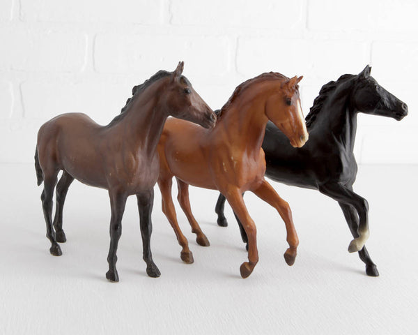 Breyer Black Beauty Trio with Black Beauty, Ginger, and Duchess from Black Beauty Set at Lobster Bisque Vintage