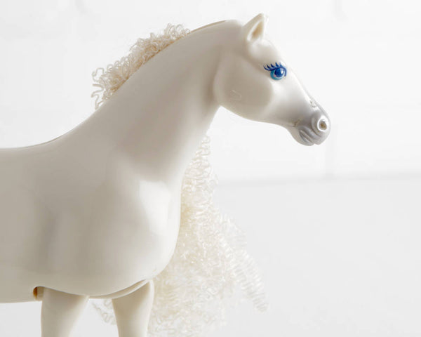 Mattel Barbie Horse with Long Curly Mane and Tail at Lobster Bisque Vintage