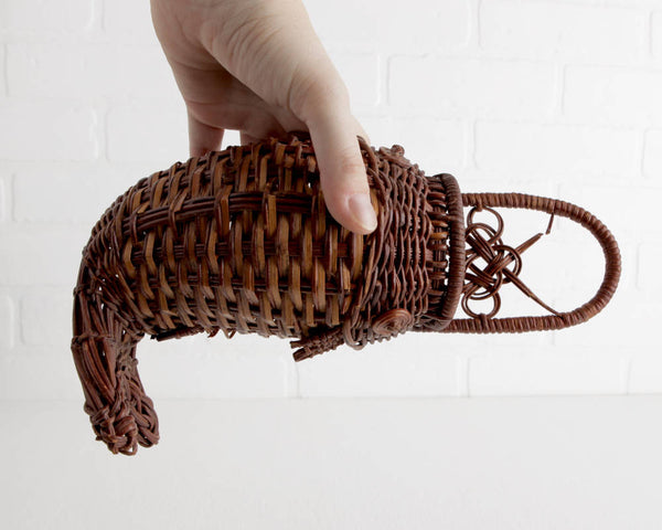 Woven Fish Basket at Lobster Bisque Vintage