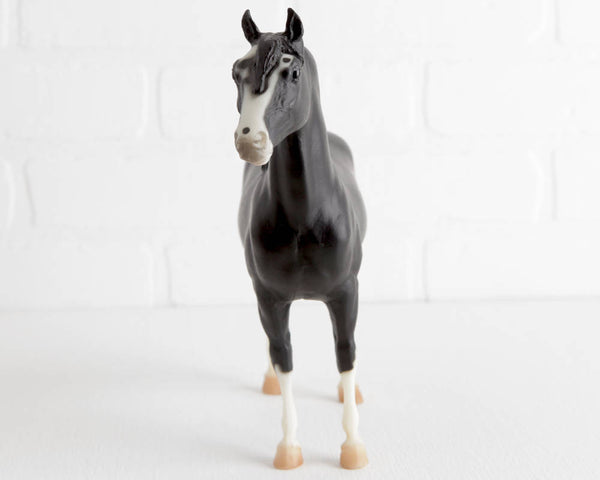 Breyer Missouri Fox Trotter Tri Mi Boot Scootin Boogie in Black with White Stockings at Lobster Bisque Vintage