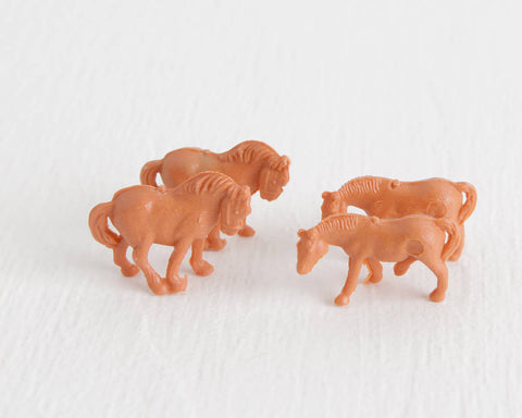 HO Standing and Walking Pony Lot at Lobster Bisque Vintage