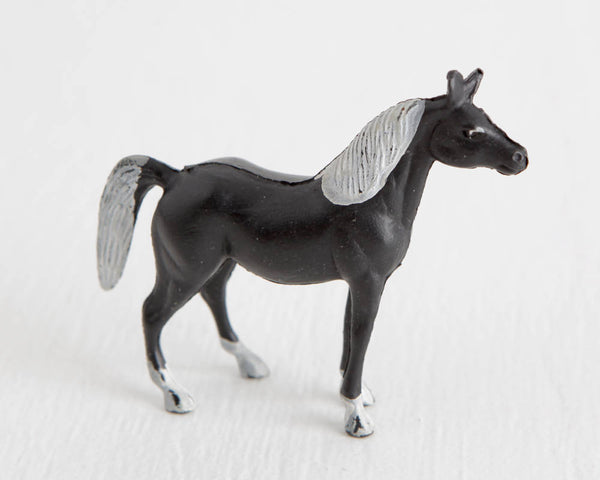 Black Horse with White Mane and Tail at Lobster Bisque Vintage